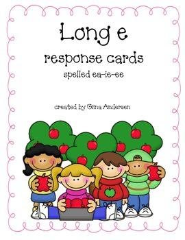 Response Cards-ea, ie,ee