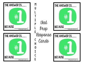 Response Cards for Test Preparation