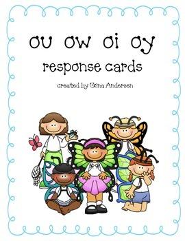 Response Cards-ou, ow, oi, oy