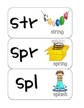 Response Cards- shr, scr, thr, str, spr, spl