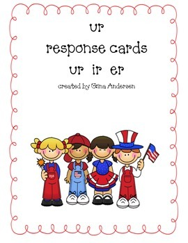 Response Cards- ur, ir, er