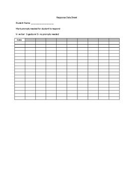 Response Data Sheet