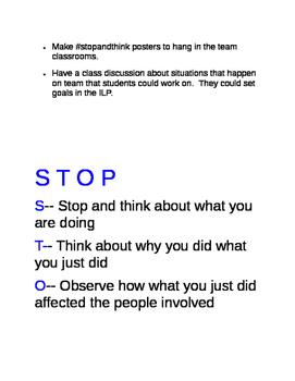 Response Inhibition Lesson