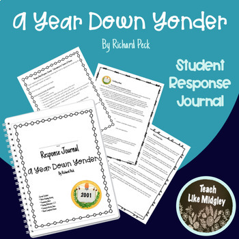 Response Journal for Newbery Winner: A Year Down Under