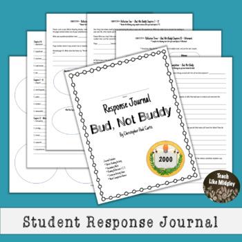 Response Journal for Newbery Winner: Bud, Not Buddy