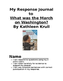 Response Journal to March on Washington by Kathleen Krull