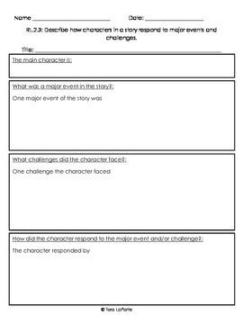 Response Journal/Graphic Organizer Bundle 2nd Grade RL2.1-RL2.9