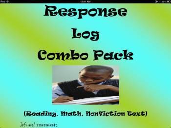 Response Log-Homework Bundle