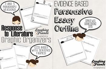 Response & Persuasive Essay Outlines Bundle