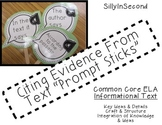Response Prompt Sticks for Citing Evidence from Text