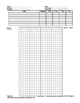 Response Recording Data Sheet