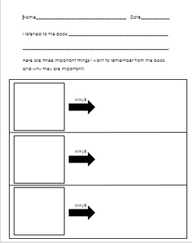 Response Sheets for Determining Importance