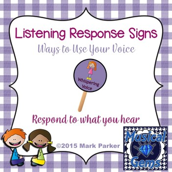 Response Signs - Ways to Use Your Voice
