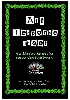 Response To Art Sheet