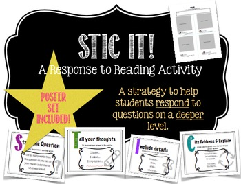 Response To Reading Strategy Worksheet & Posters