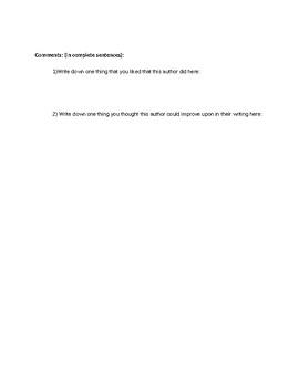 Response Writing Draft Checklist