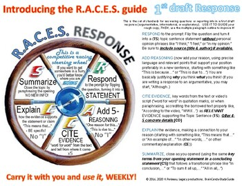 Opinion \ Response Writing Guide - R.A.C.E.S. a Step-by-Step tool for gr 5-10