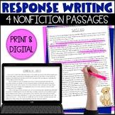 Response Writing Passages | Nonfiction | RACES Strategy
