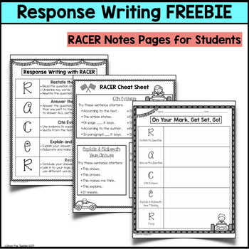 Response Writing with RACES Strategy - FREEBIE