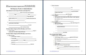 Response of Labor to Industrialization Lesson and PowerPoint Bundle
