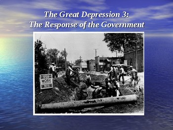 Response of the Government (Great Depression 3/4)