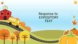 Response to Expository Text
