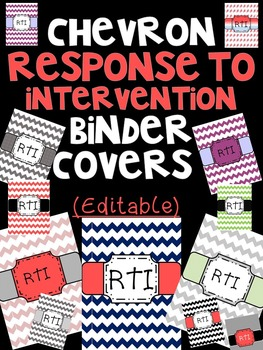 Response to Intervention Chevron Binder Covers (Editable)