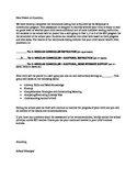 Response to Intervention Letter to Parents (Reading Groups)