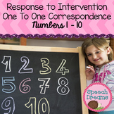 Number Identification {one to one correspondence Response to Intervention}