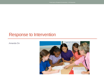 Response to Intervention PowerPoint for Teachers