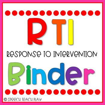FREEBIE Response to Intervention RTI Binder