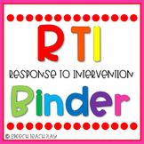 FREEBIE Response to Intervention {RTI} Organization Binder