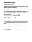 Response to Intervention (RtI) Permission Slip English/Spanish