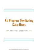 Response to Intervention (RtI) Progress Monitoring Data Sheet