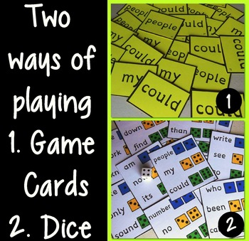 Response to Intervention Sight Words Games Set Two