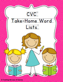 Response to Intervention Skill-based Take Home CVC Word Lists
