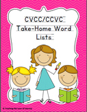 Response to Intervention Skill-based Take Home CVCC Word Lists