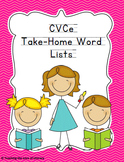 Response to Intervention Skill-based Take Home CVCe Word Lists