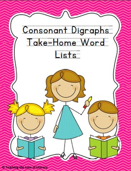 Response to Intervention Skill-based Take Home Consonant Digraphs Word Lists