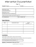 Response to Intervention (Tier 2) Data Organizer