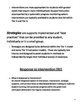 Response to Intervention Toolkit