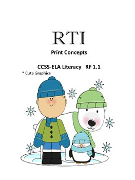 Response to Intervention for Print Concepts  Winter Themed