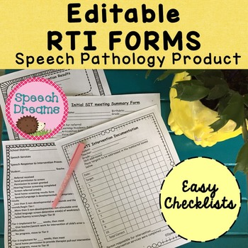 Response to Intervention for The Speech Pathologist EDITABLE by ...