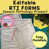 Response to Intervention for The Speech Pathologist EDITABLE