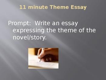 Response to Literature: 11 minute Theme Essay