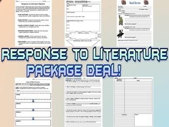 Response to Literature - 6 worksheet PACKAGE DEAL!