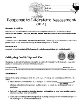 Response to Literature Assessment/Lesson