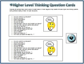 Response to Literature Bundle w/Higher Level Thinking Q's & Graphic Organizers