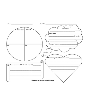 Response to Literature Lesson and Graphic Organizer Planning Sheet