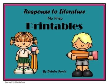 Response to Literature Printables